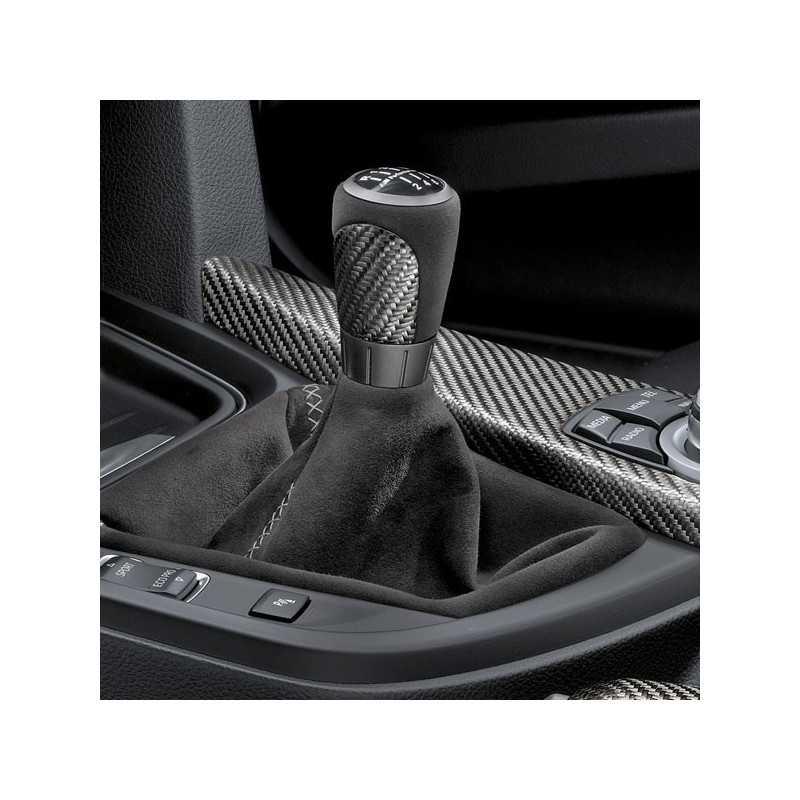 Pommeau de levier de vitesse avec soufflet alcantara BMW M Performance pour BMW Série 1 F20 F21