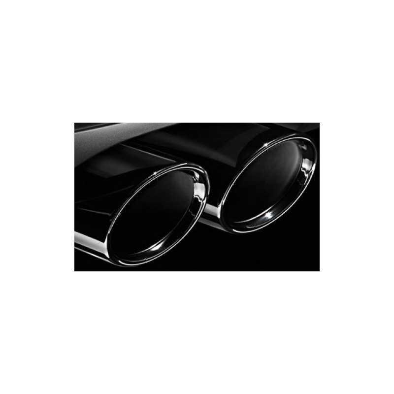 Embouts d'échappements chromés noir pour BMW Série 5 G30 G31