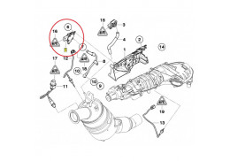 0906029 Capteur de pression d/échappement pour C5 MINI 2D 2A//C 308 1.4-3.0L Capteur de pression d/échappement