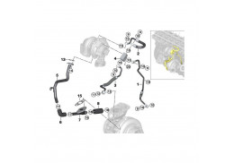Turbocompresseur Pression Tuyau Turbo Tuyau pour BMW Série 7
