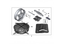 Système roue de secours (avec pneumatique) pour BMW Série 6 F12 F13
