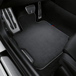 Set tapis de caoutchouc compatible avec BMW 2-Serie F22 Coup/é 2013- T profil 4-pi/èces + clips de montage