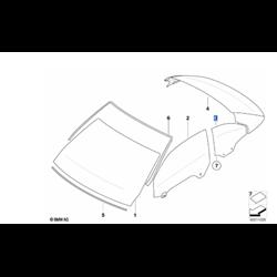 Vitre latérale arrière fixe côté droit BMW Série 3 E93 Cabriolet