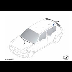 Vitre latérale fixe arrière (côté au choix) BMW Série 1 F20