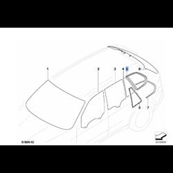 Vitre latérale arrière fixe (côté au choix) BMW X5 E70