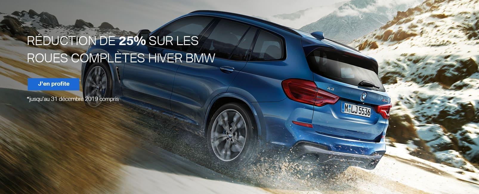Réduction de 25% sur les roues complètes hiver BMW