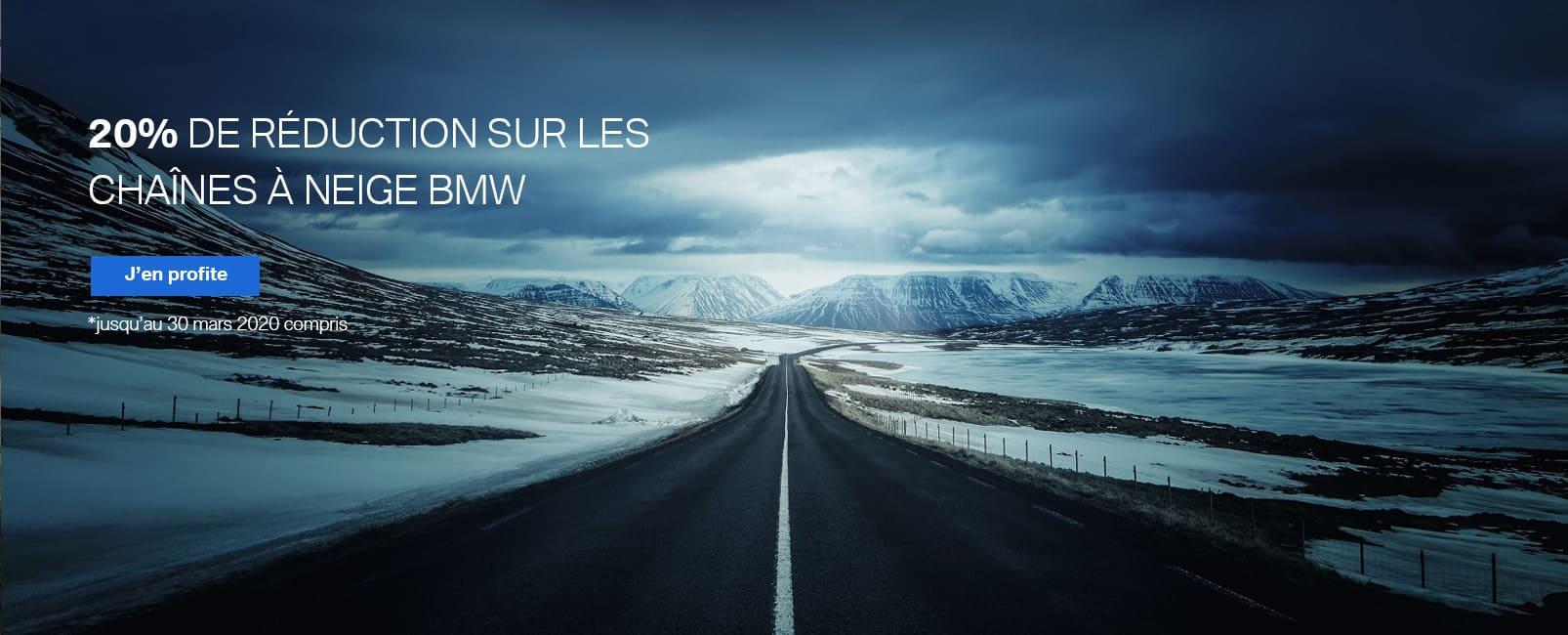 20% de réduction sur les chaines à neige BMW